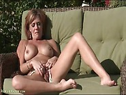 Big Boobs Mom Masturbates Outdoors In The Sun