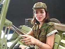 Bloke Fucks Two Army Girls In An Ffm Threesome