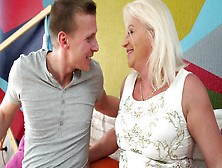White-Haired Granny Is Incredibly Happy To Be Fucked By Young Gu