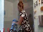 Mom Gives Son A Bathroom Blowjob