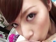 Brunette Japanese Girl With Bikini Sucks Cokc