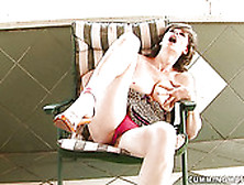 Noisy Mommy With Hairy Cunt Is Solo Masturbating Passionately