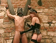Dominant Strict Redhead Milf Makes Masked Dude Eat Her Wet Pussy