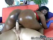 Ghetto Oiled Butt Black Whore Sucking Monster White Dick And Rid