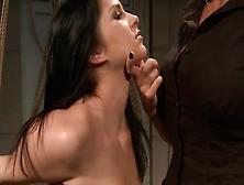 Curvy Brunette Doxy Gets Bandaged And Slapped By Kinky Mistress