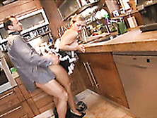 White Guy Eats And Pounds Sweet Chick Mia Leone In The Kitchen