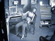 Slut Gets Caught Masturbating At Work