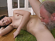 Nasty Brunette Olga Gets Her Pussy And Ass Fucked By An Old Dude