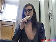 Gagging With Ice Cream