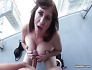 Thick Busty Old Slut Gives Pov Blowjob With Titwank And Gets Dog