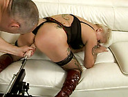 Frazzle Blond Mature Gets Her Moist Beaver Pounded By Dildo Mach
