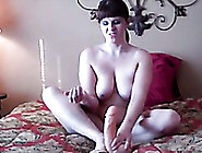 Big Boobed Hottie Playing With Damn Big Dildo In Amateur Sex Vid