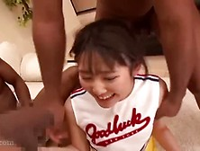 Jap Cheerleader's Black Gangbang
