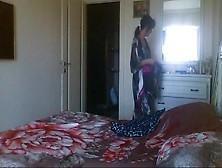 A Wife On Hidden Camera In Bedroom