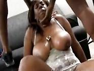 Busty Chubby Ebony Gets Her Throat Fucked Hard By Black Cock