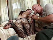 Sexy Cheek Jordan Minor Gets Her Tootsies Licked