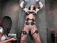 Electrical Devices To Torture A Submissive Girl In Toying Lesbia
