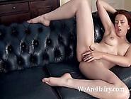 Jenny Smith Slowly Undresses On Couch