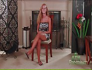 Skinny Jessie Rogers Strips Naked And Smiles