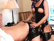 Sexy Female Domination With Tied Up Slave And Suffocation