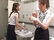 Curvy Japanese Babes Are Dominating The Guy In Threesome