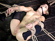 Hot Brunette Yulia Catova Tied Up And Teased