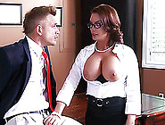 Alluring Milf With Fake Tits Swallowing Cum After Getting Her An