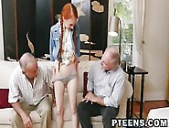 Tiny Redhead Dolly Little Gets Screwed By Old Man