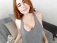 Curvy Redhead Milf Pussy Spread On Webcam