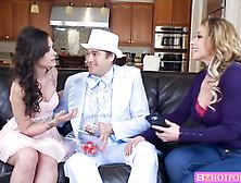 Milf Eva Notty And Sexy Teen Gia Paige Sucks One Huge Cock