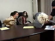 Three Office Gilrs Bound And Gagged