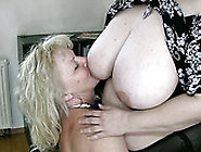 Pale Brunette Chubby Nympho Lets Mature Blonde Slut Suck Her Boo