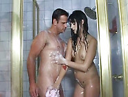 Wet-Haired Nympho Lola Banks Gives Her Lover A Nice Handjob In T