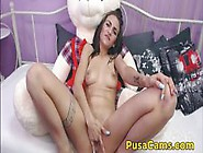 Teddy Bear Ride Cute Young 18 Years Old Teen Girl