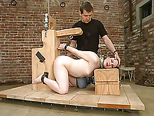 Bound And Blindfolded Claire Adams Gets Whipped