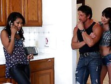 Horny Teen Cali Sweets Rides Tommy Gunn While His Wife Eva Karer