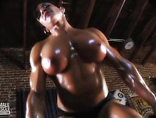 Marina Lopez Busty Muscle Topless Workout Video