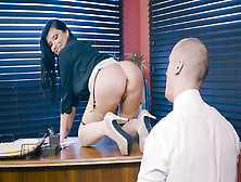 Romi Rain Lets Him Audit Her Ass And Suck Her Big Breasts