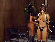 Icy Hot Ebony Lesbian With Big Tits Enjoys Getting Bound Then Sp