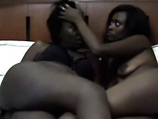 Ebony Girlfriends Gladly Licking Shaved Pussies