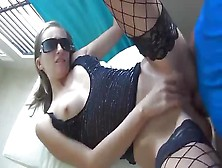 German Fox In Fishnets Gets Fucked