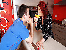Hot Redhead Housewife Sucks Dick And Gets Fucked - Maturenl