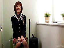 Teasing Oriental Milf Sayuri Kotose Is Putting Fingers In Her Lo