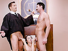 Double Penetration Of A Judge Kristina Rose To Make Her More Dis