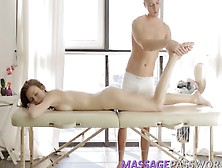 Horny Brunette Serpente Edita Gets Drilled On Massage Table