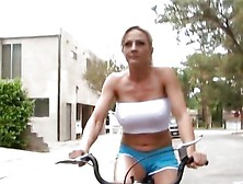 Hot Blonde Leaves Her Bike For Some Black Cock