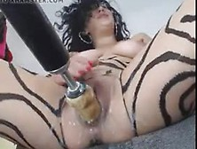 Horny Babe Loves Her Fucking Machine