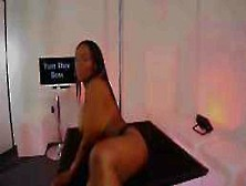 Voluptuous,  Ebony Woman Is Working As A Pole Dancer And Often Masturbating For Her Vip Clients