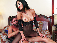 Chloe Amour Rips Off Her Black Pantyhose To Make Way For This Gu
