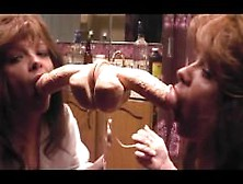 Milf From Look4Milf. Com Loves Sucking Cum Filled Dildo